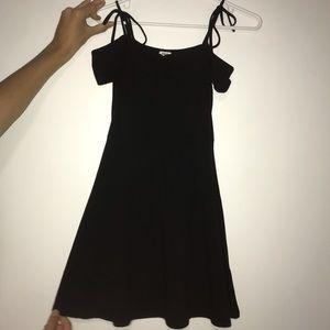 Size S Black Garage Tie Up Strap Dress